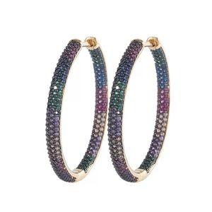 SOLD SOLD Big Micro Pave 🌈 Hoop Earrings